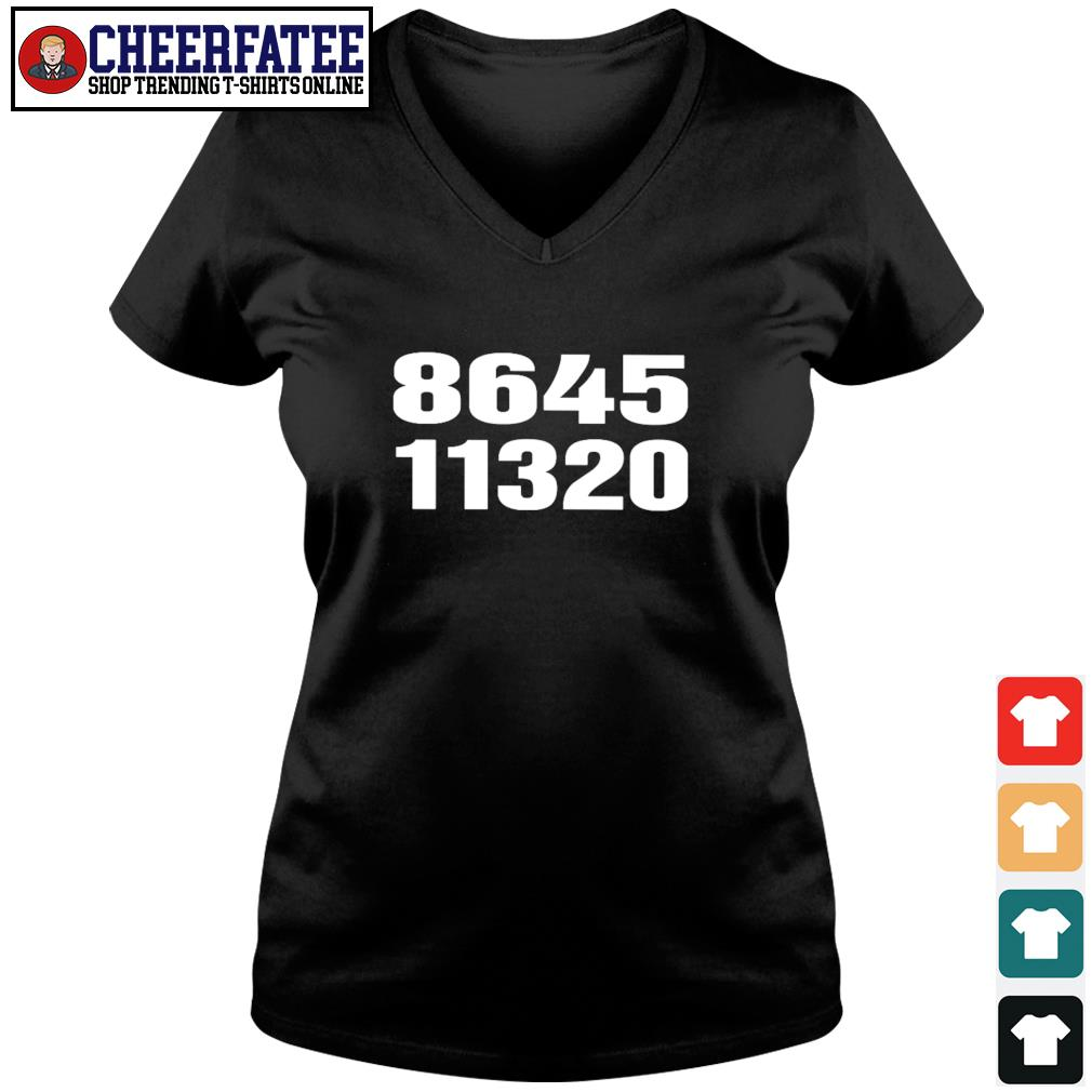 864511320 vote out donald trump on election day s v-neck t-shirt