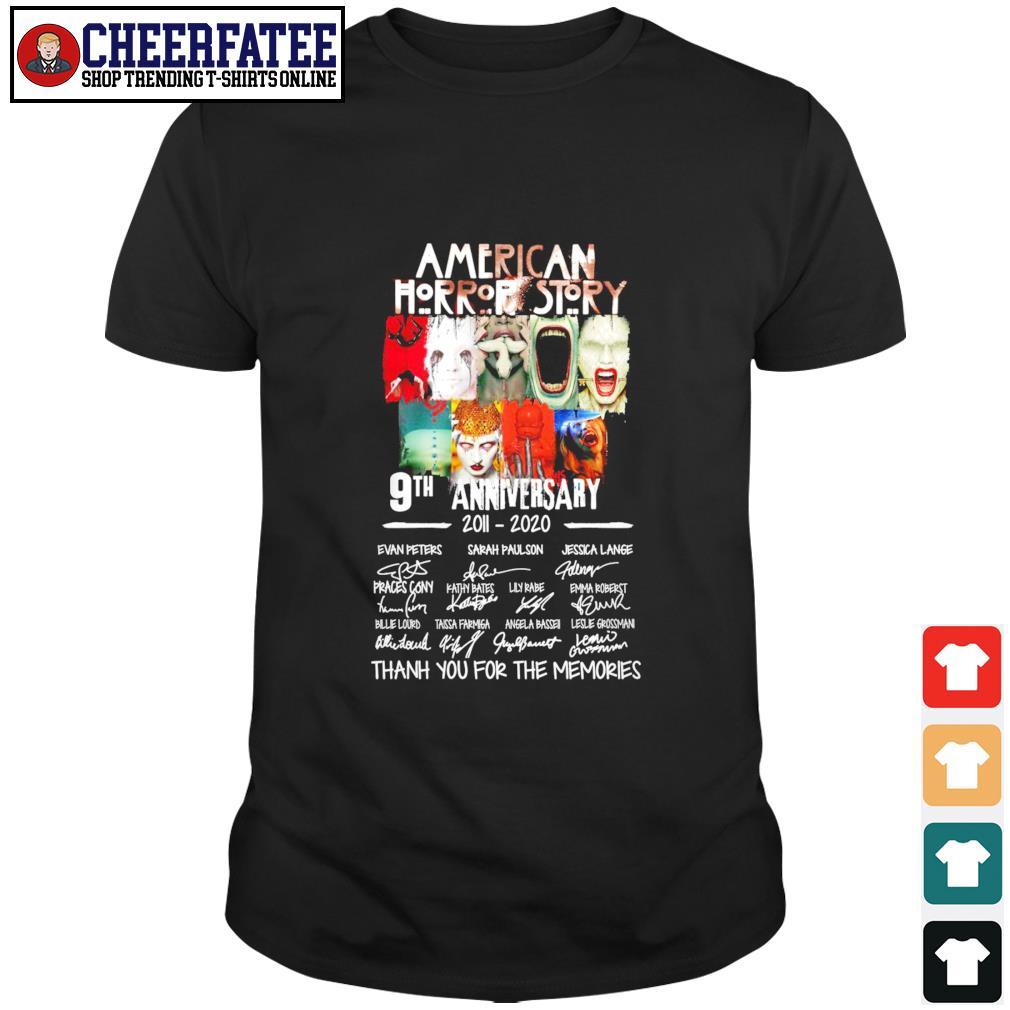 American horror story 9th anniversary 2001 2020 signature shirt