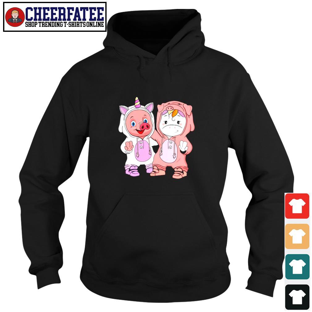 Baby pig and baby unicorn s hoodie
