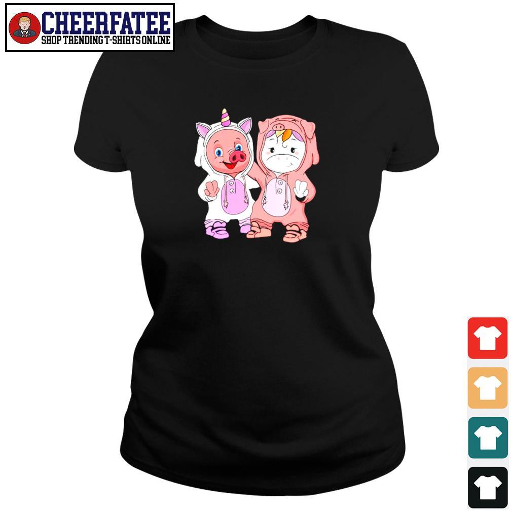 Baby pig and baby unicorn s ladies-tee