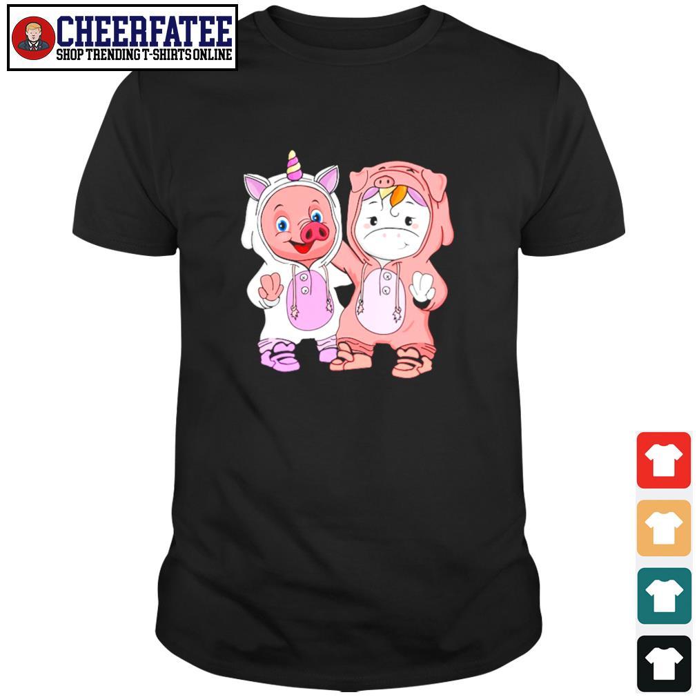 Baby pig and baby unicorn shirt