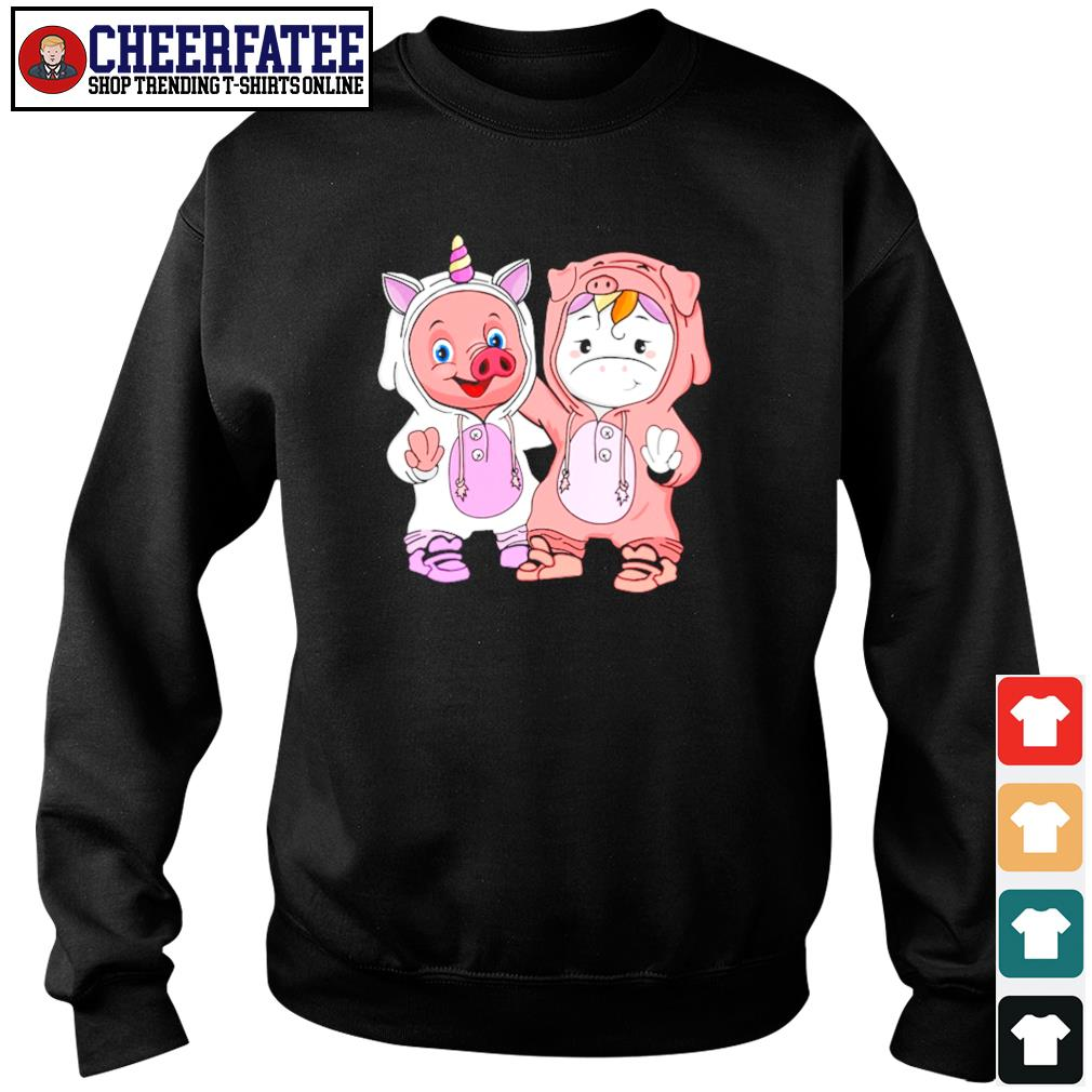 Baby pig and baby unicorn s sweater