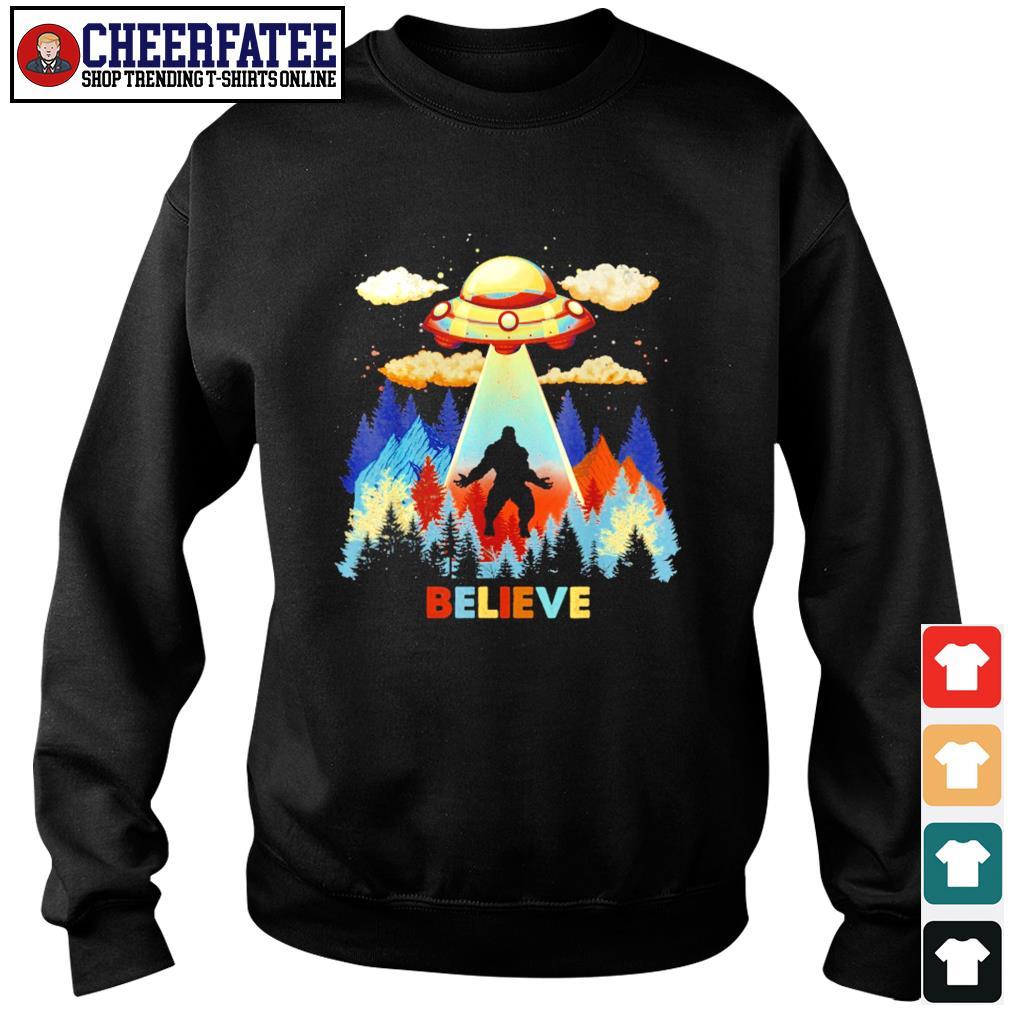 Bigfoot alien UFO believe s sweater