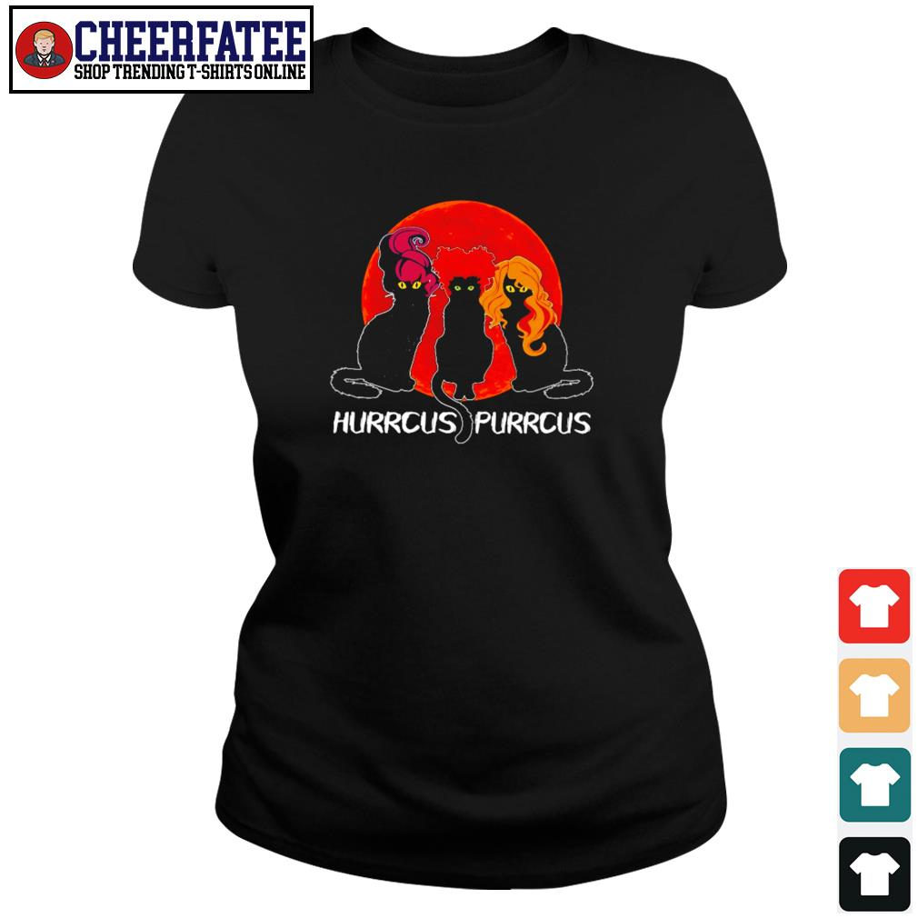 Black cat hurrcus purrcus blood moon s ladies-tee