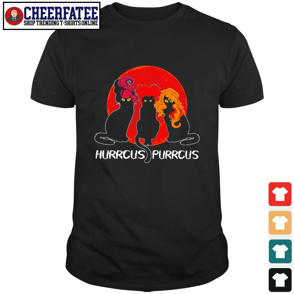 Black cat hurrcus purrcus blood moon shirt