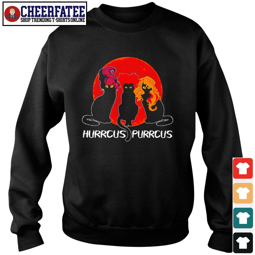 Black cat hurrcus purrcus blood moon s sweater