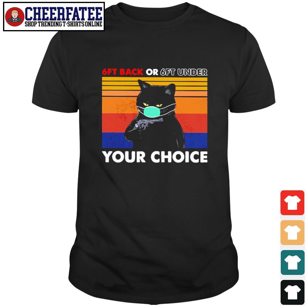 Black cat mask 6ft back or 6ft under your choice vintage shirt