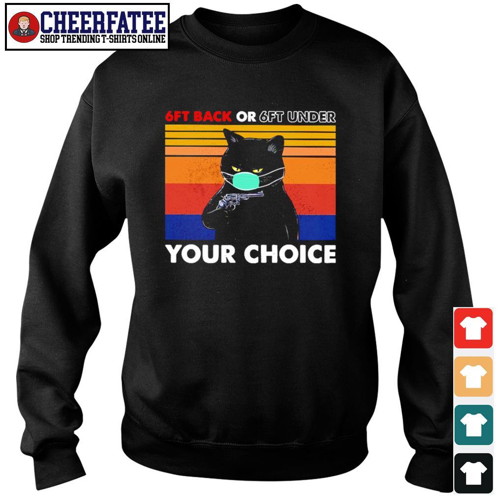 Black cat mask 6ft back or 6ft under your choice vintage s sweater