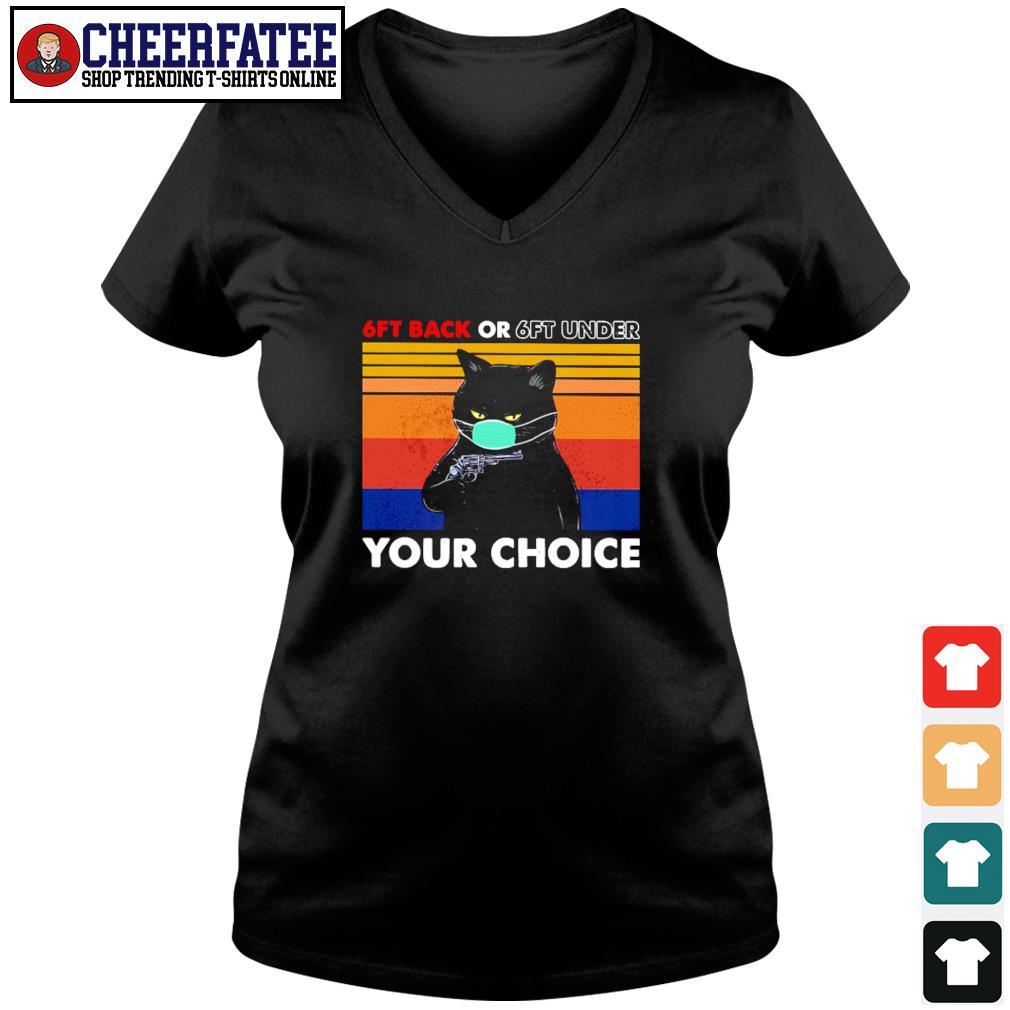 Black cat mask 6ft back or 6ft under your choice vintage s v-neck t-shirt