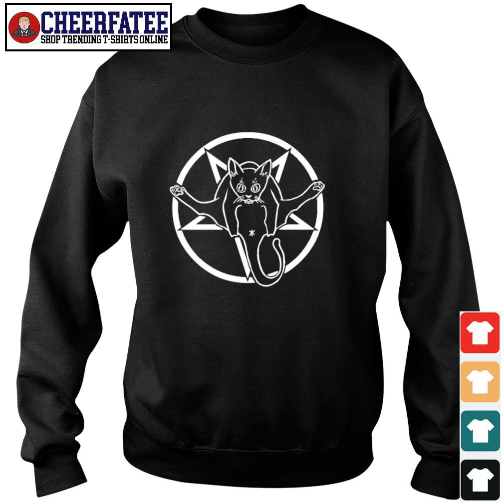 Black cat sigil of baphomet s sweater