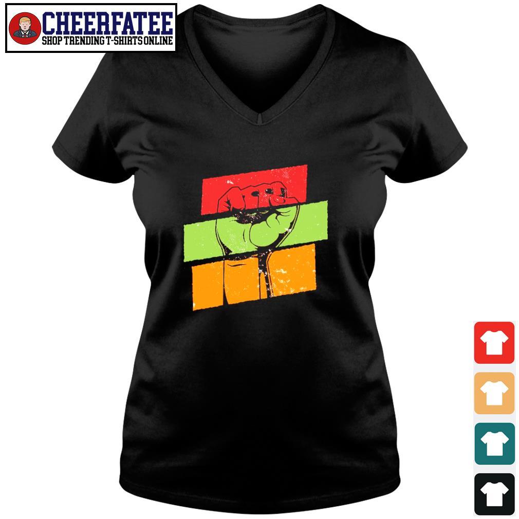 Black live matter vintage s v-neck t-shirt
