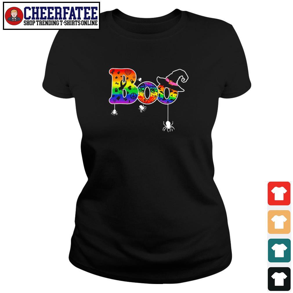 Boo cancer halloween LGBT s ladies-tee