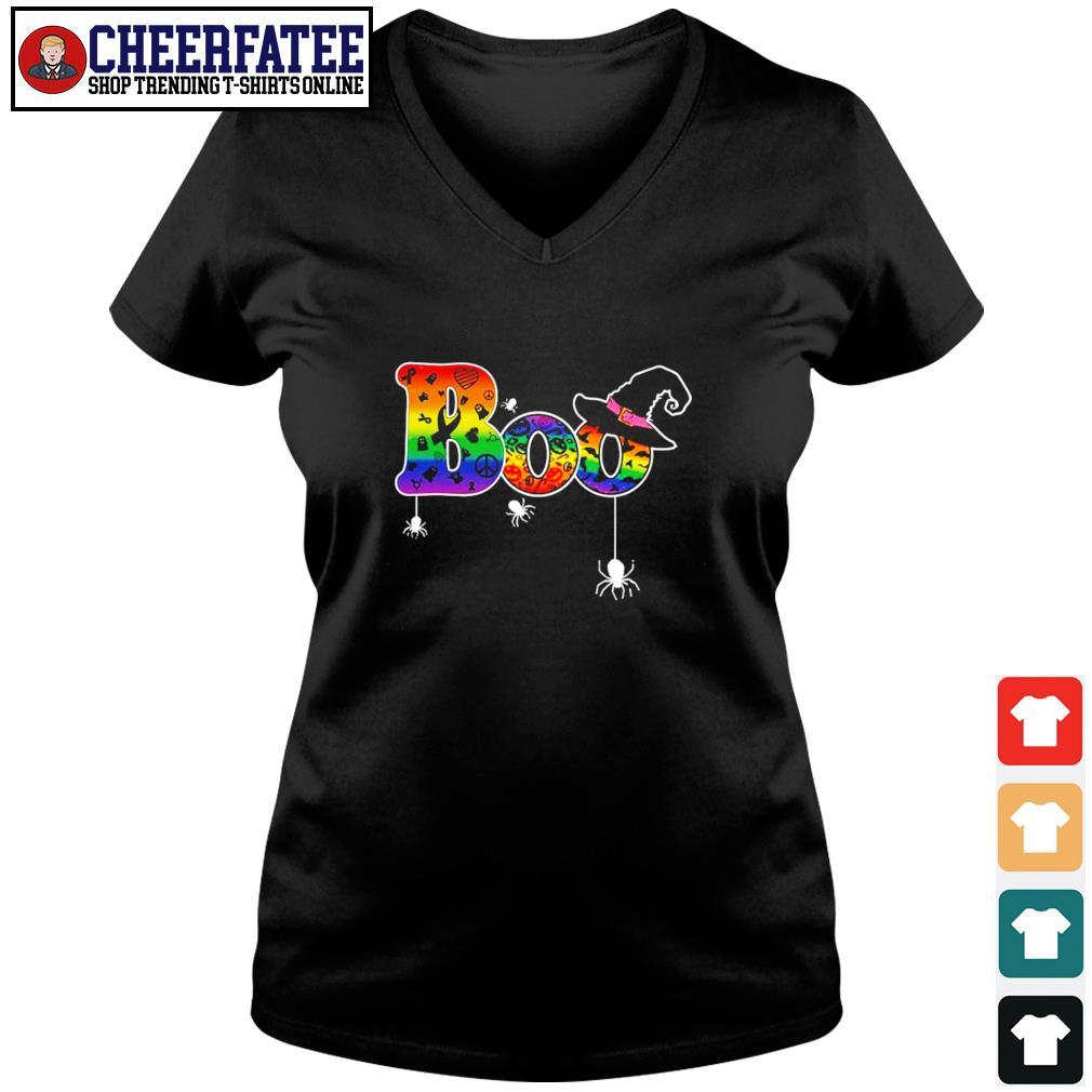 Boo cancer halloween LGBT s v-neck t-shirt