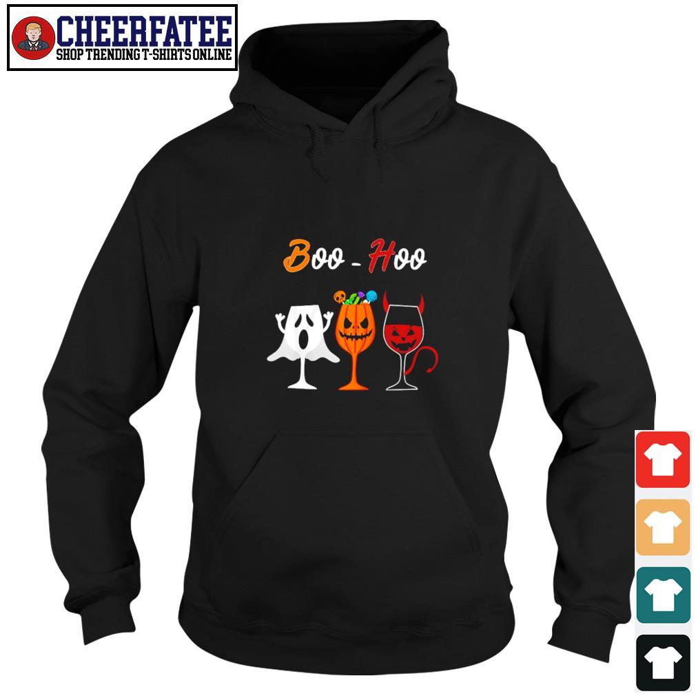 Boohoo ghost pumpkin wine halloween s hoodie