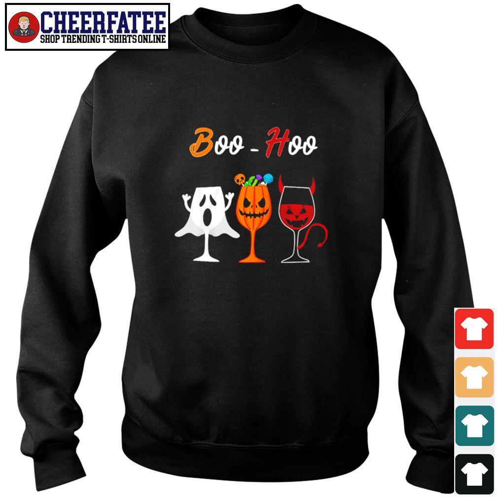 Boohoo ghost pumpkin wine halloween s sweater