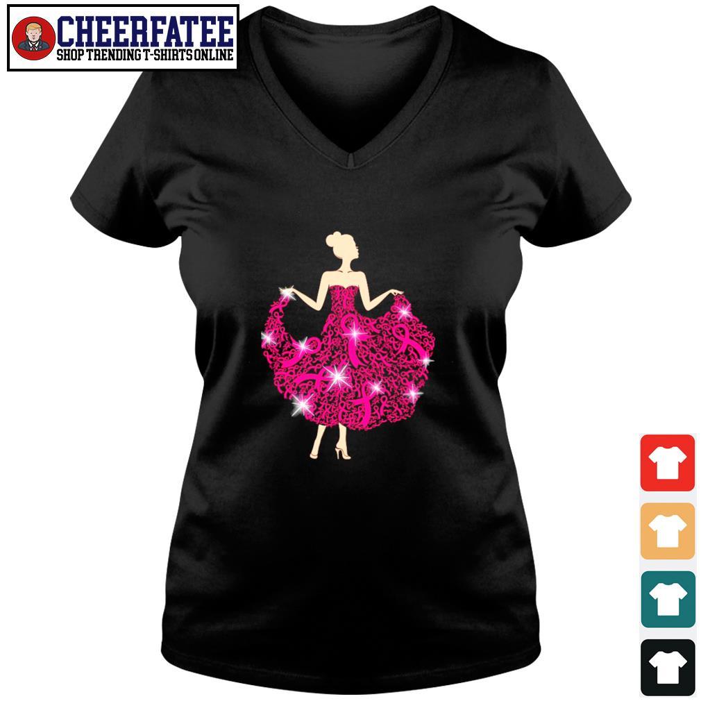 Breast cancer girl dance s v-neck t-shirt