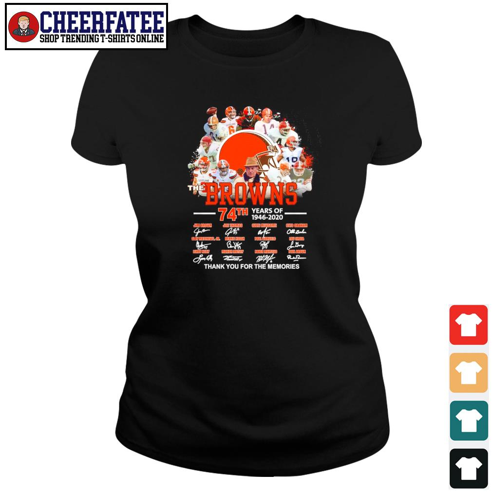 Browns 74th years of 1946 2020 thank you for the memories s ladies-tee