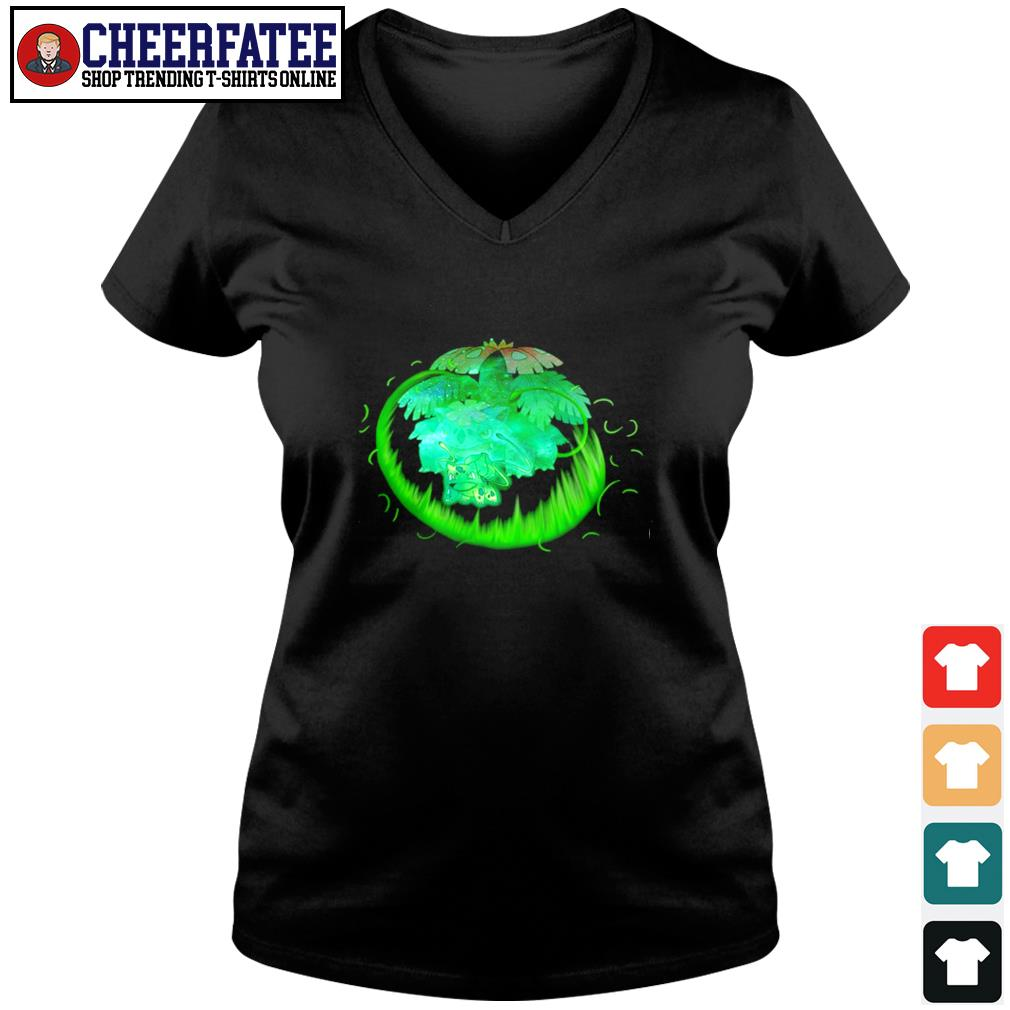 Bulbasaur grass type evolution Venusaur s v-neck t-shirt