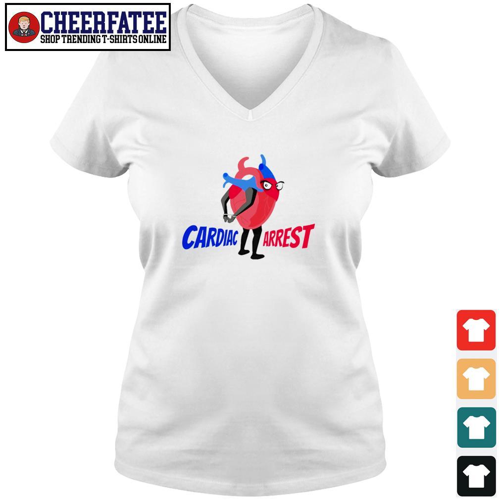 Cardiac arrest heart s v-neck t-shirt