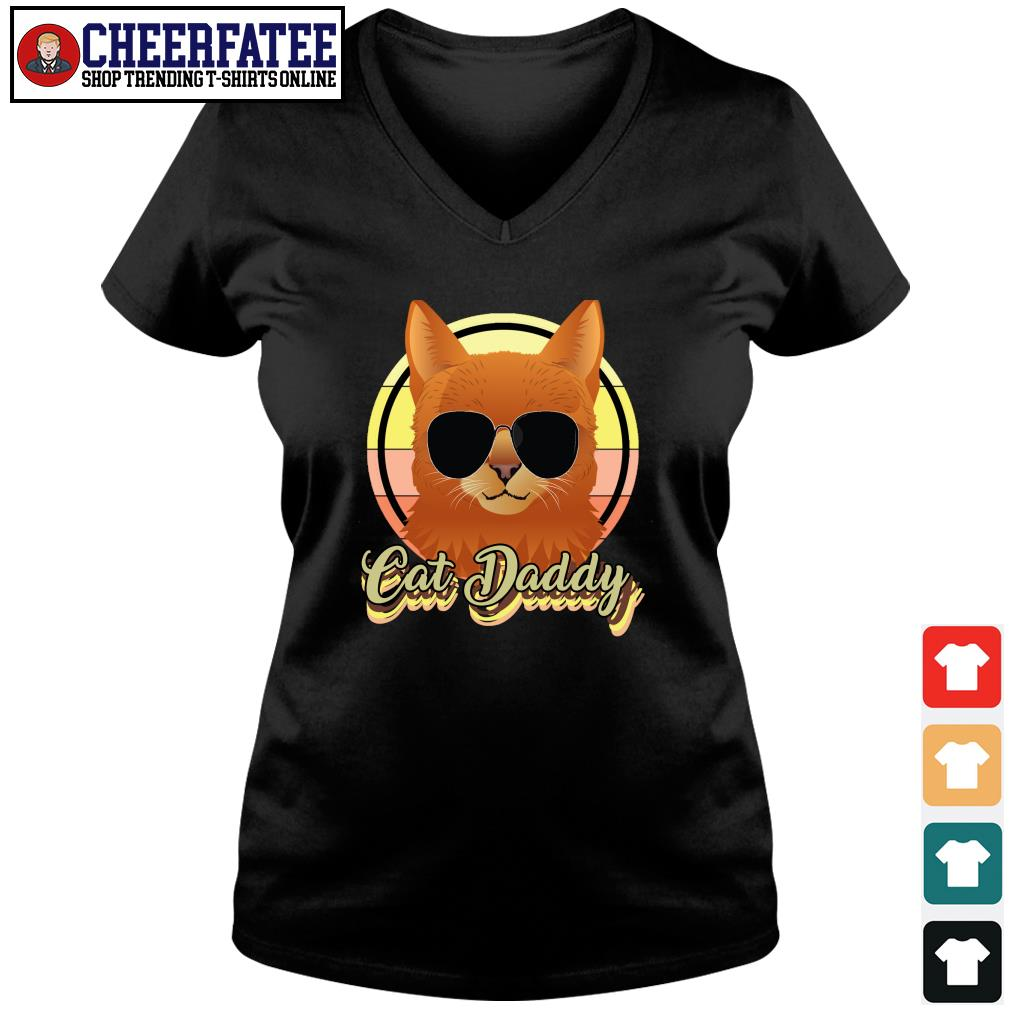Cat daddy vintage s v-neck t-shirt