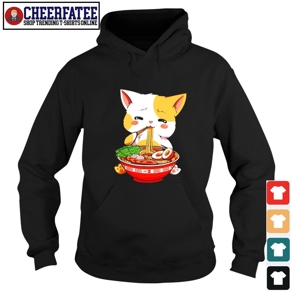 Cat eat ramen few happy s hoodie