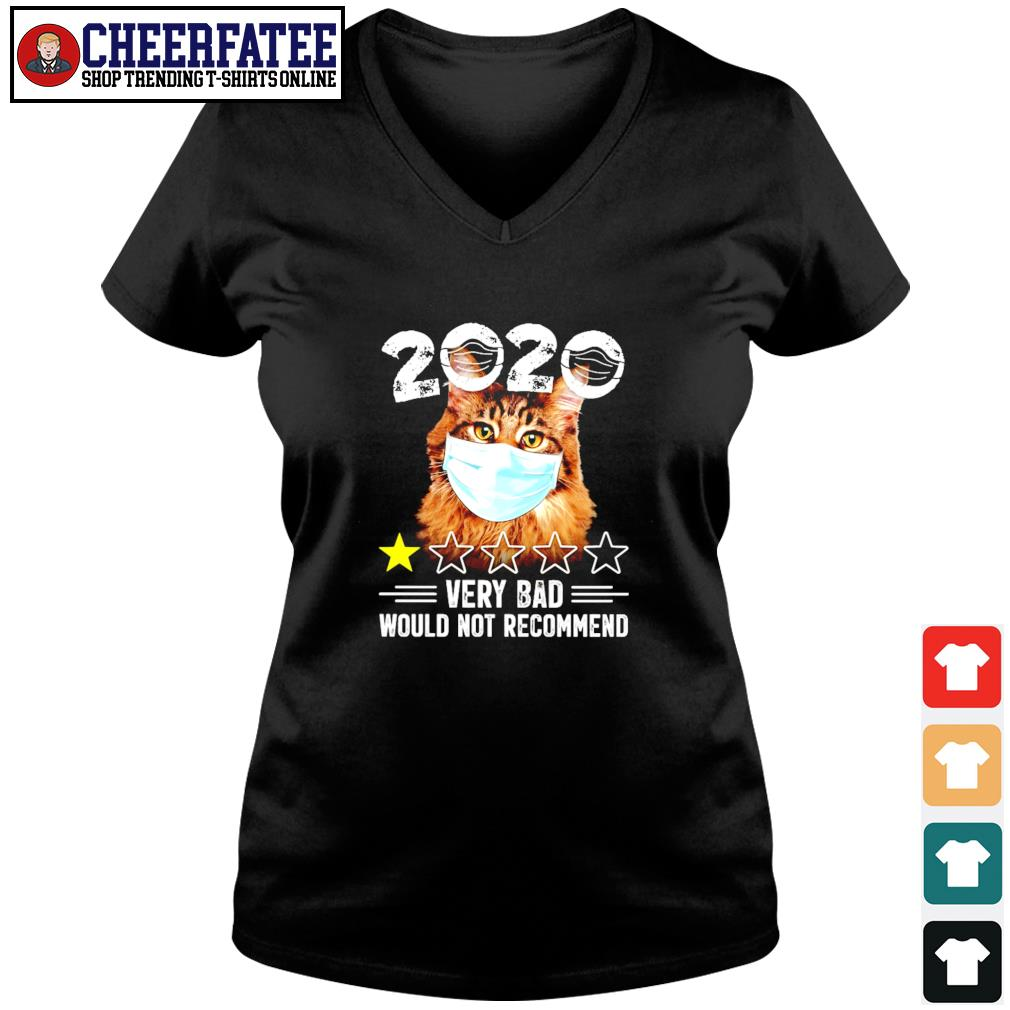 Cat mask 2020 very bad would not recommend s v-neck t-shirt