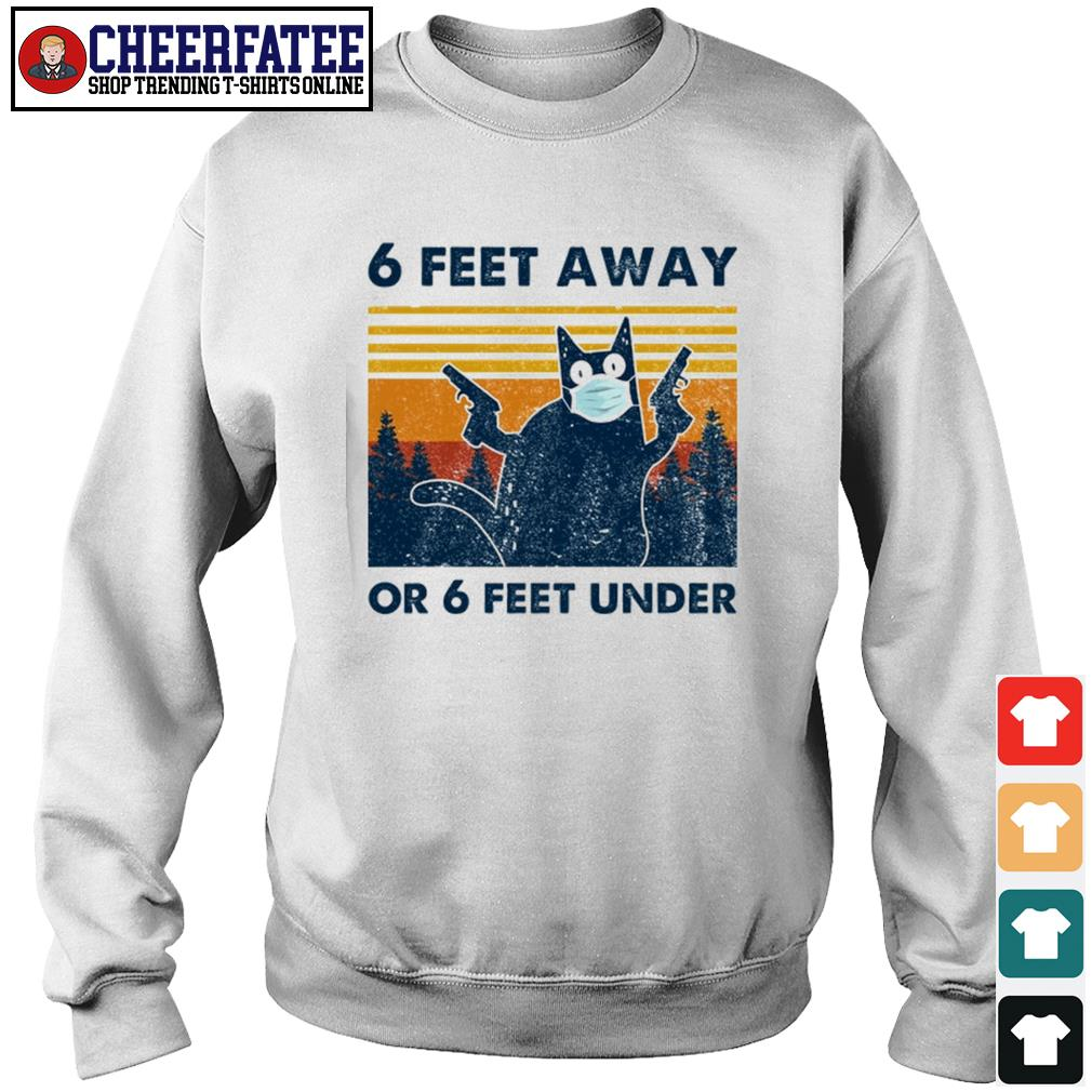 Cat mask gun 6 feet away or 6 feet under vintage s sweater