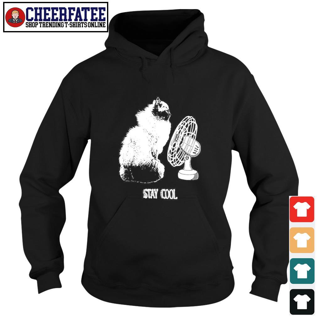Cat stay cool electric fan s hoodie