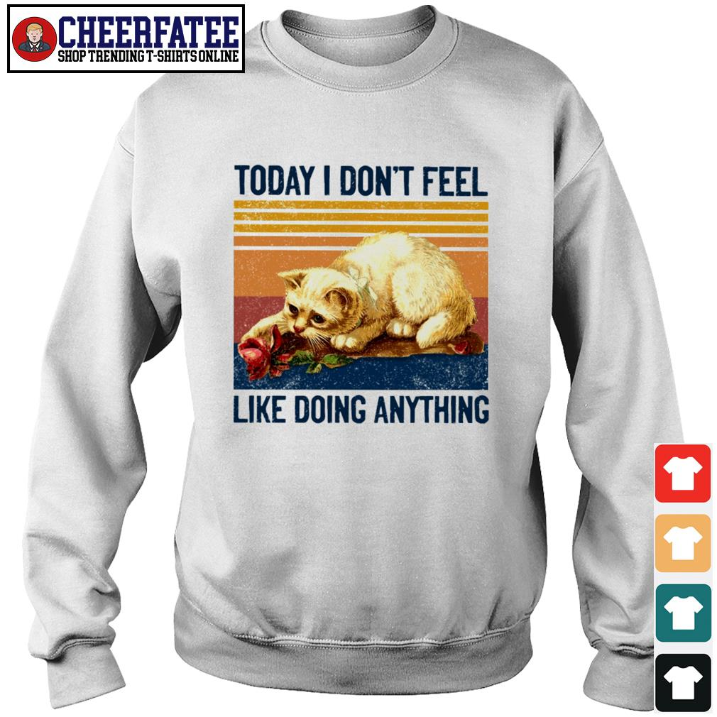 Cat today I don't feel like doing anything s sweater
