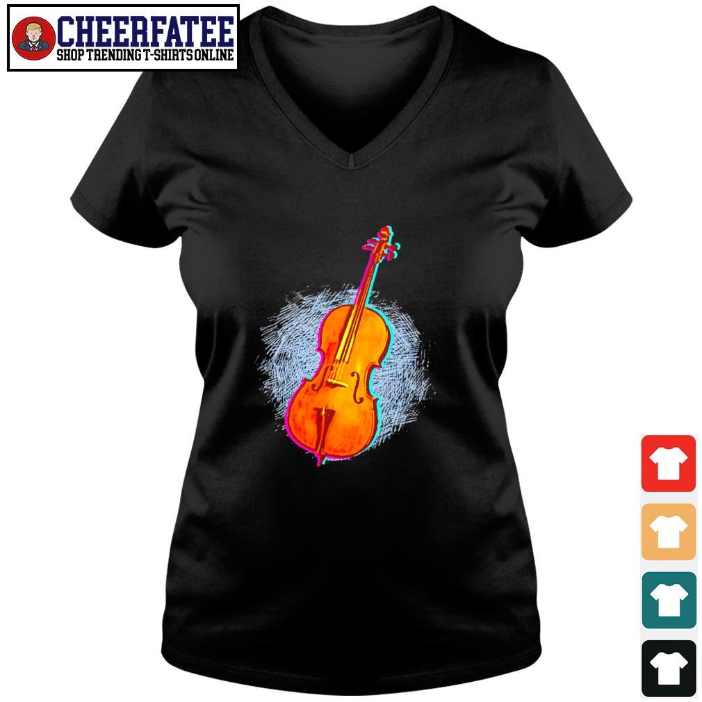 Cello retro neon s v-neck t-shirt