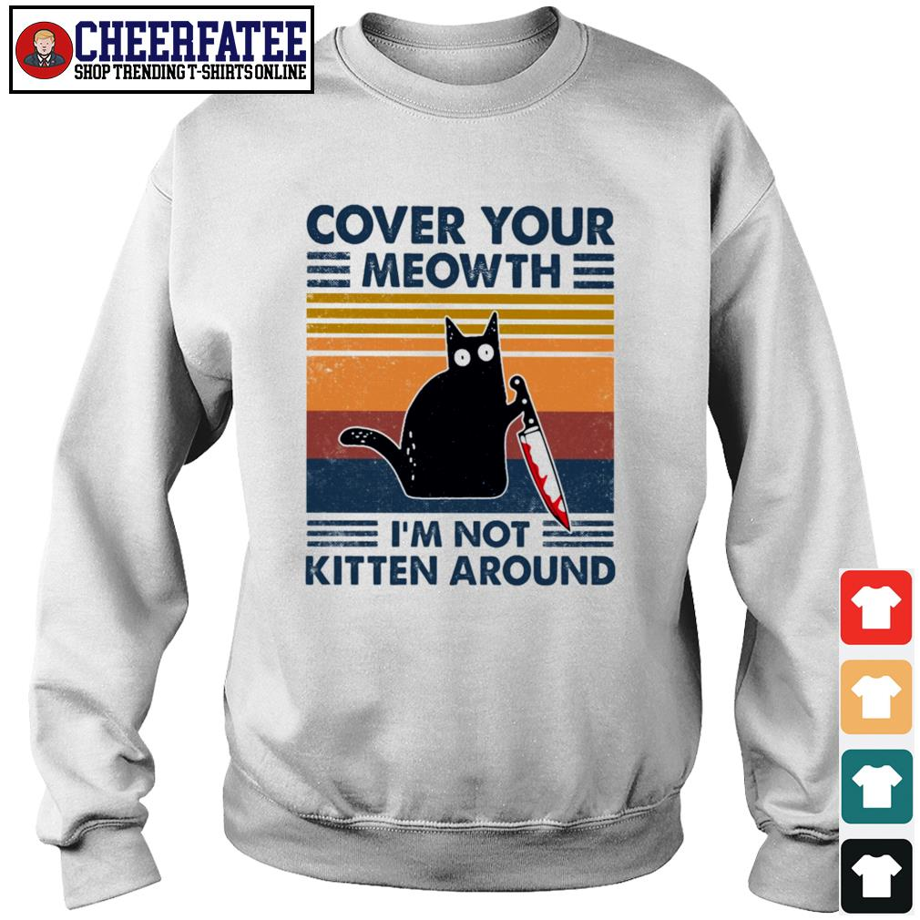 Cover your meowth I'm not kitten around vintage s sweater