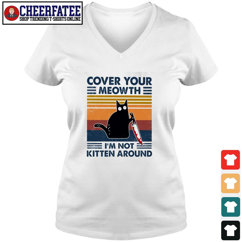 Cover your meowth I'm not kitten around vintage s v-neck t-shirt