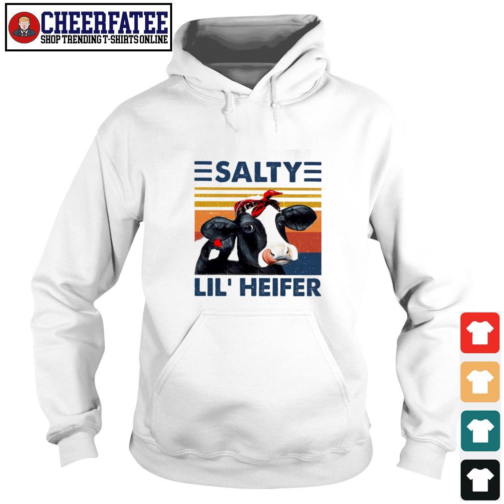 Cow salty lil' heifer vintage s hoodie