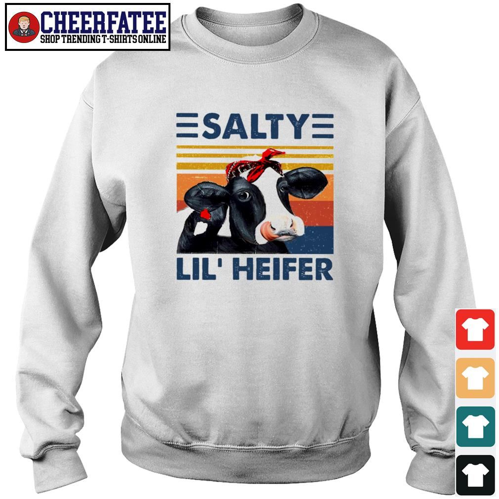 Cow salty lil' heifer vintage s sweater