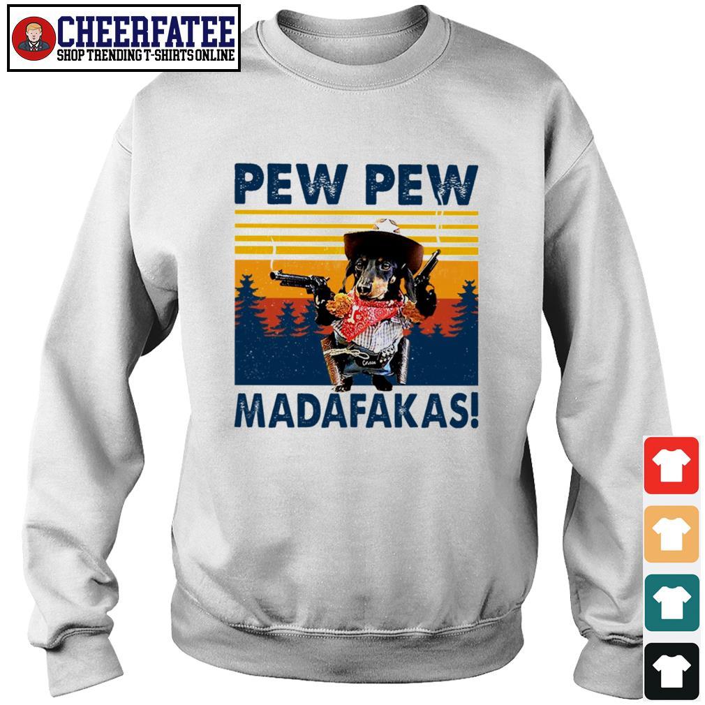 Dachshund pew pew madafakas vintage s sweater