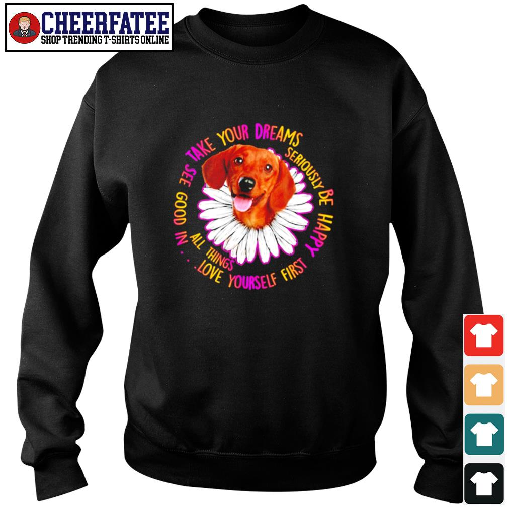 Dachshund take your dreams love yourself first s sweater