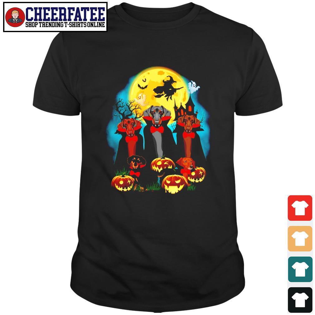 Dachshund vampire mashup halloween shirt