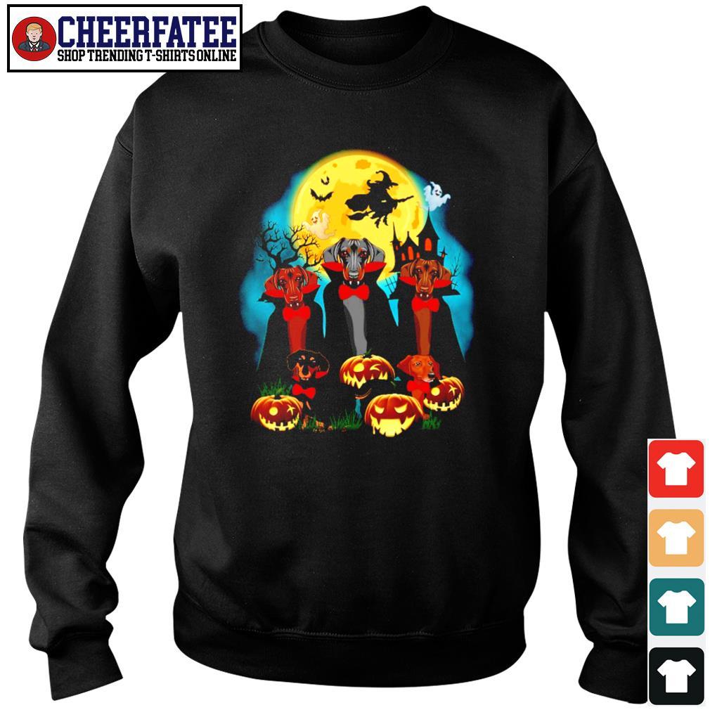 Dachshund vampire mashup halloween s sweater