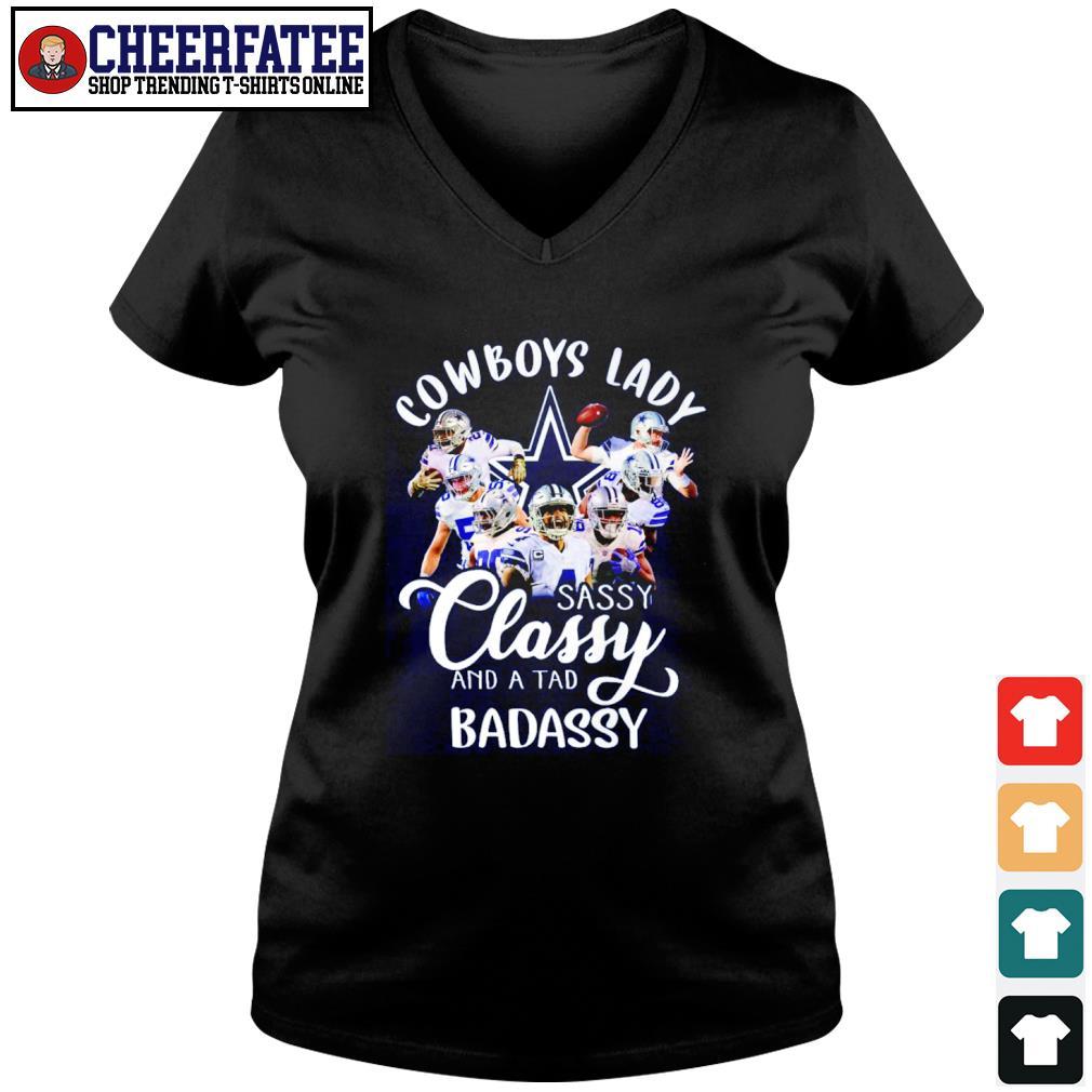 Dallas Cowboys lady sassy classy and a tad badassy s v-neck t-shirt