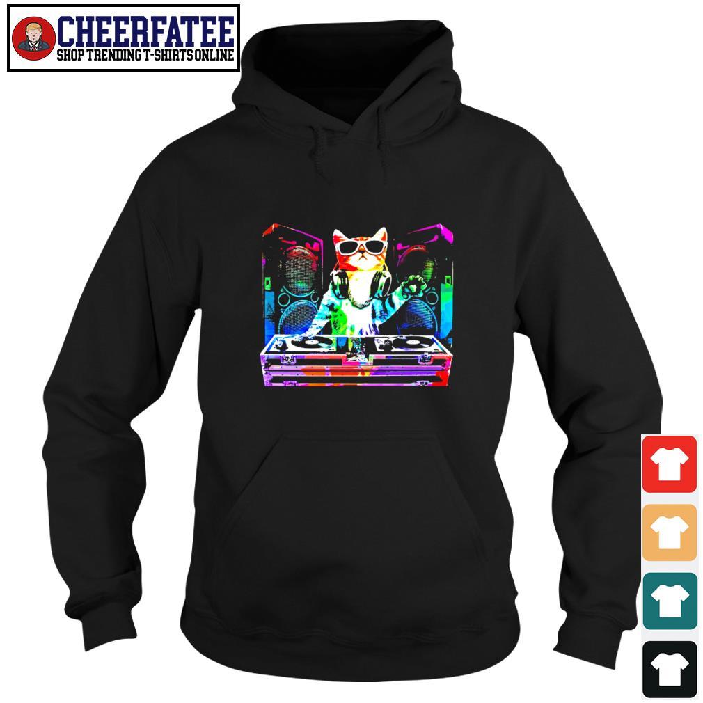 Dj cat music color s hoodie