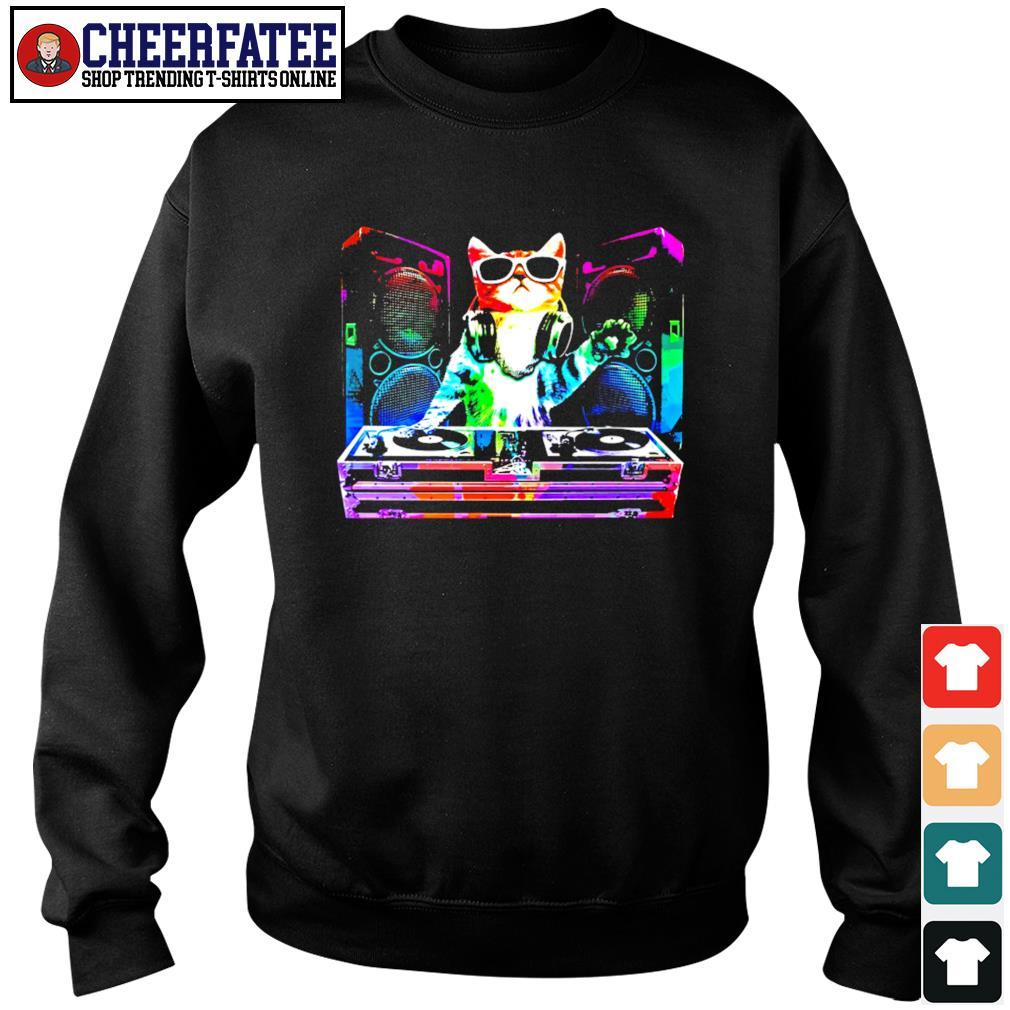 Dj cat music color s sweater