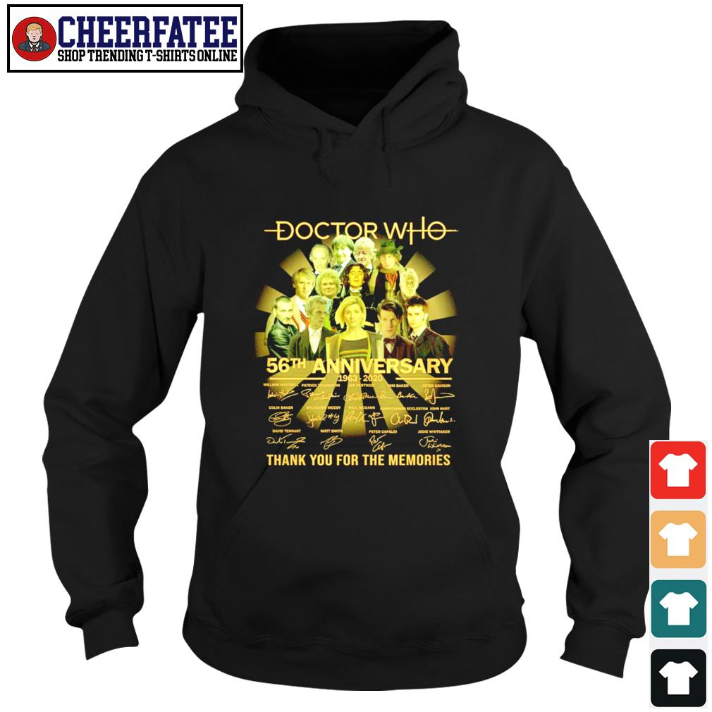 Doctor who 56th anniversary thank you for the memories signature s hoodie
