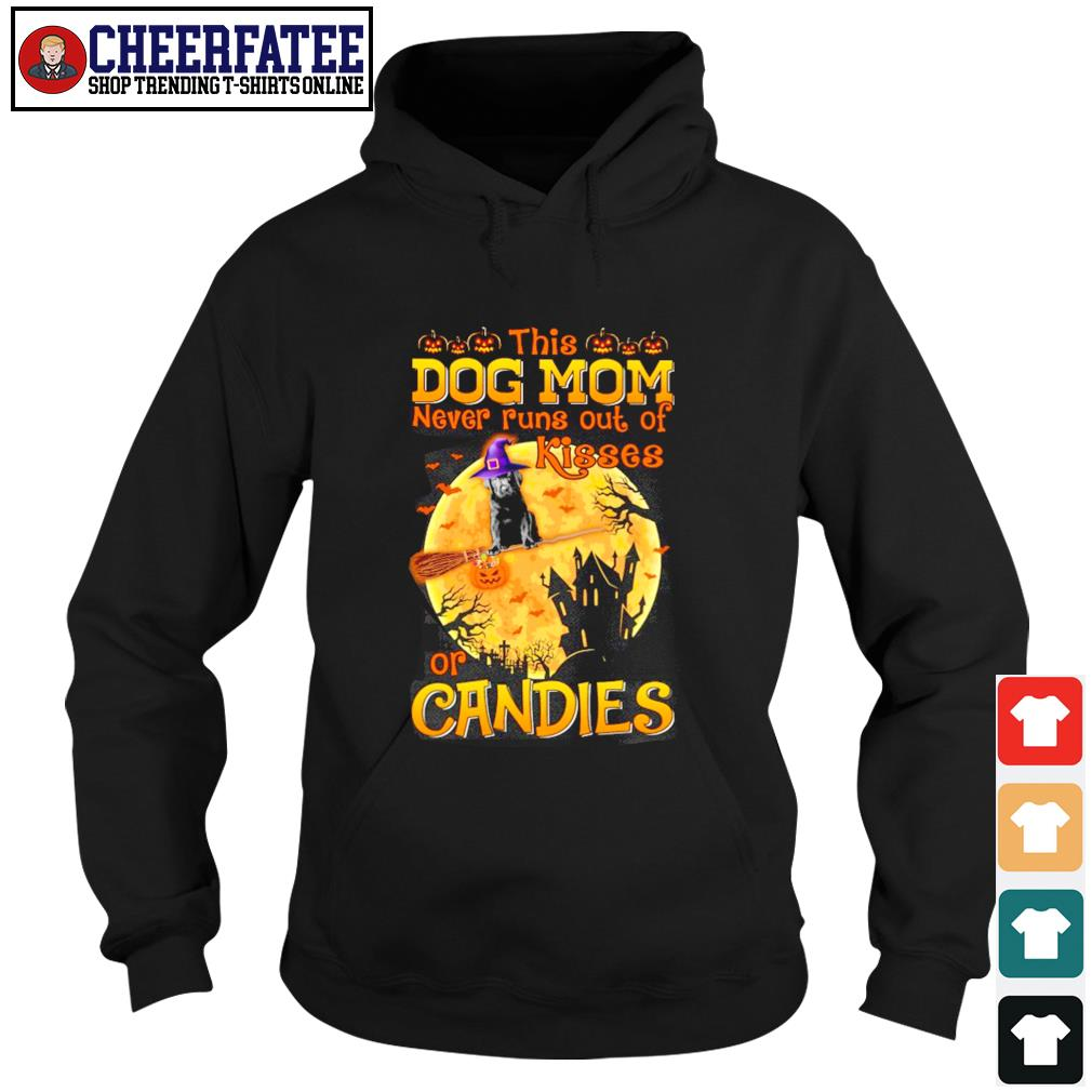 Dog mom never runs out of kisses or candies halloween s hoodie