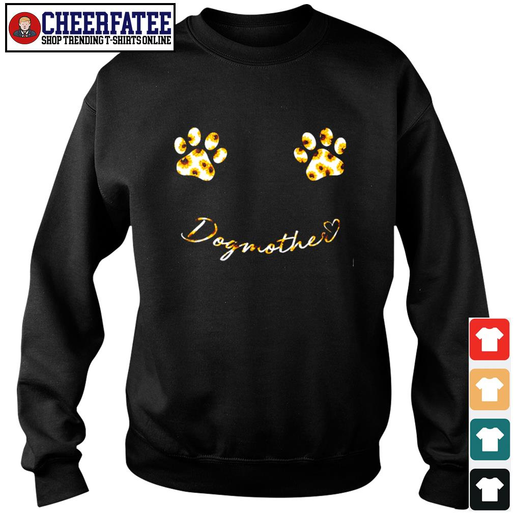 Dog mother boobs paw sunflower s sweater