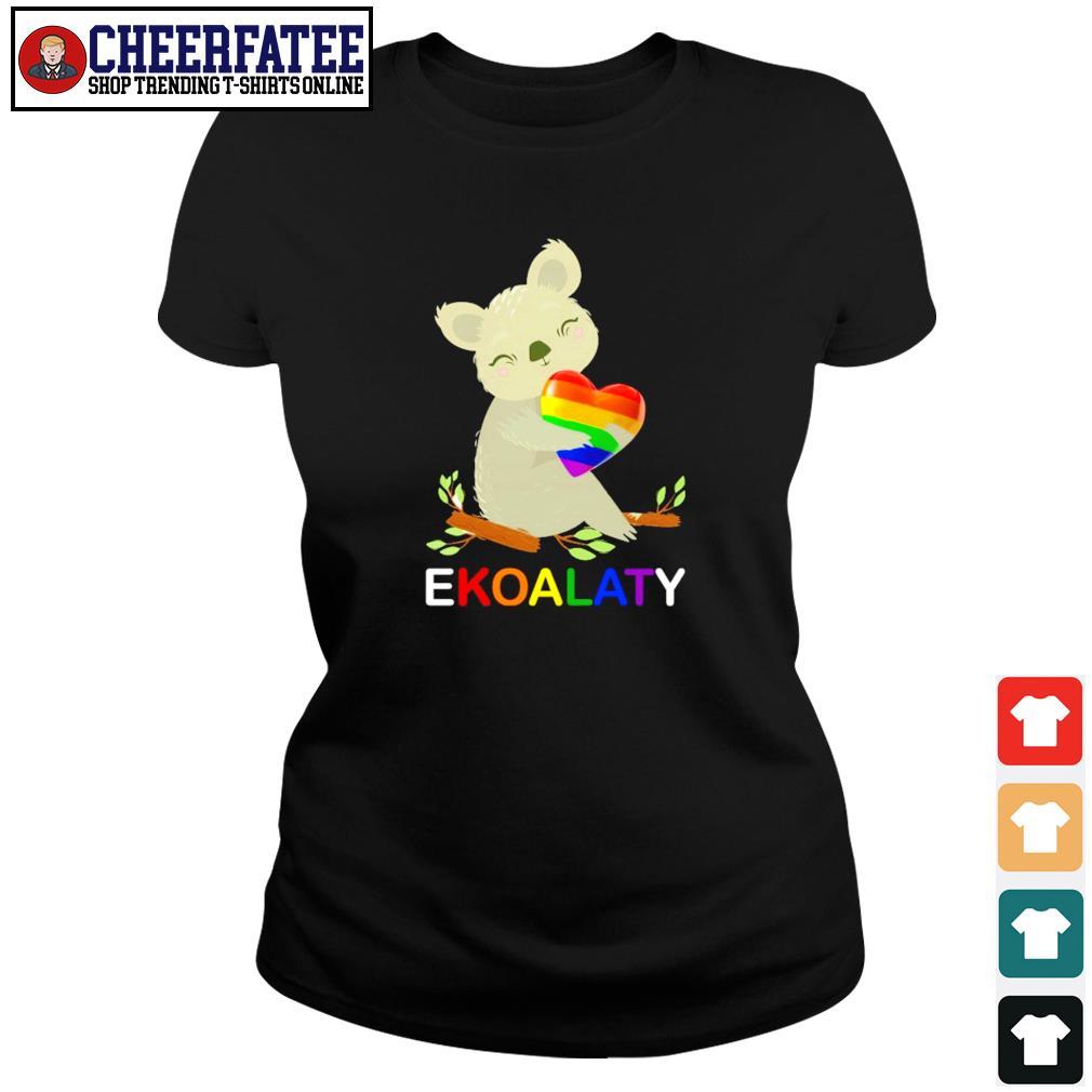 Ekoalaty hug heart LGBT s ladies-tee