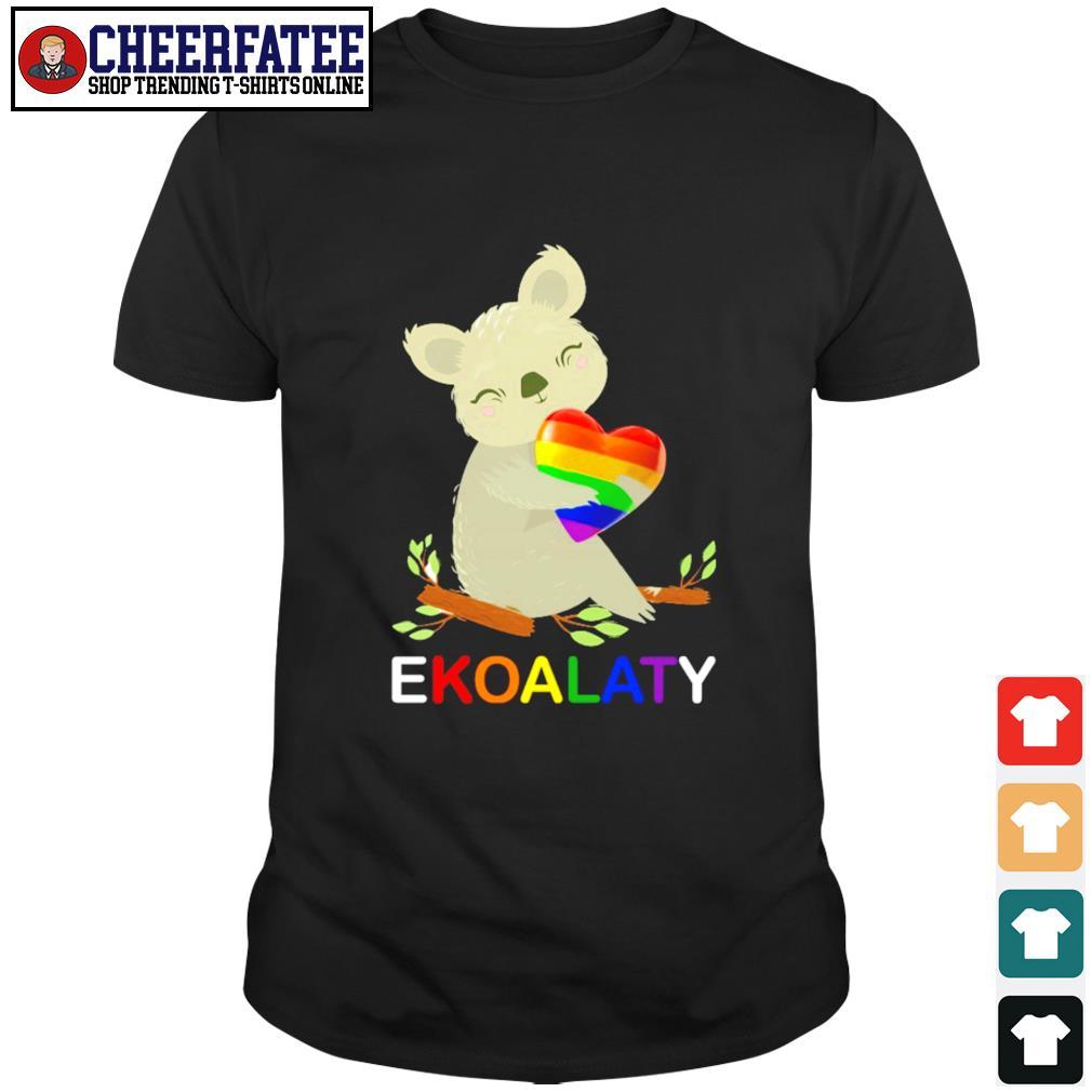 Ekoalaty hug heart LGBT shirt