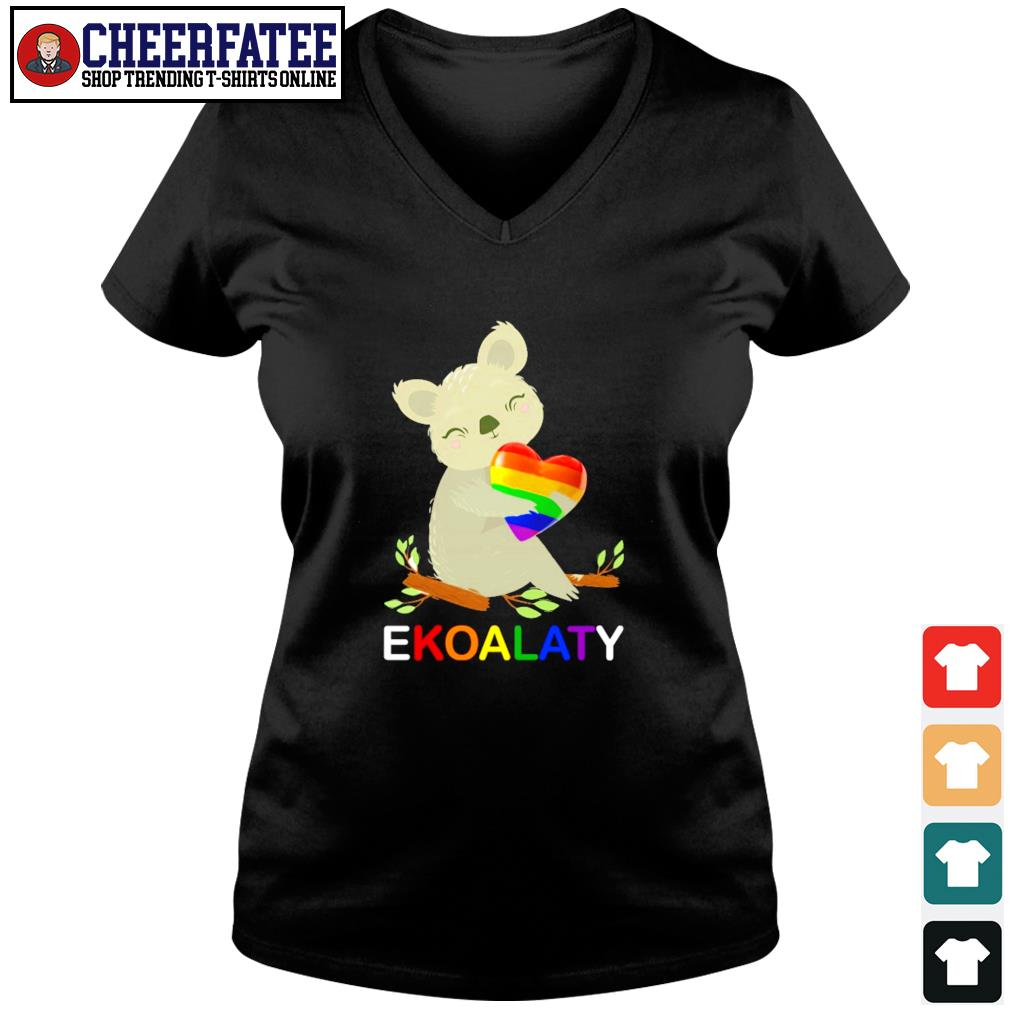 Ekoalaty hug heart LGBT s v-neck t-shirt