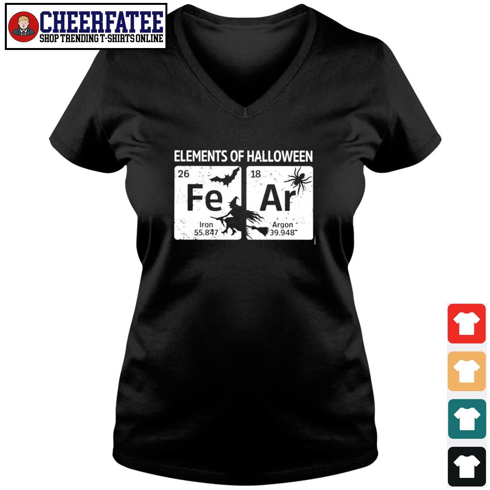 Elements of halloween fear s v-neck t-shirt