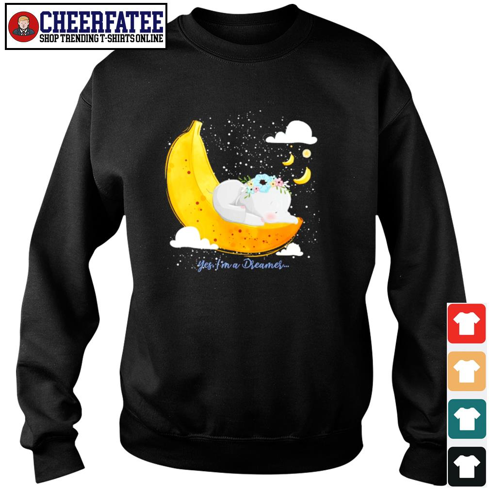 Elephant yes I'm a dreamer banana moon s sweater