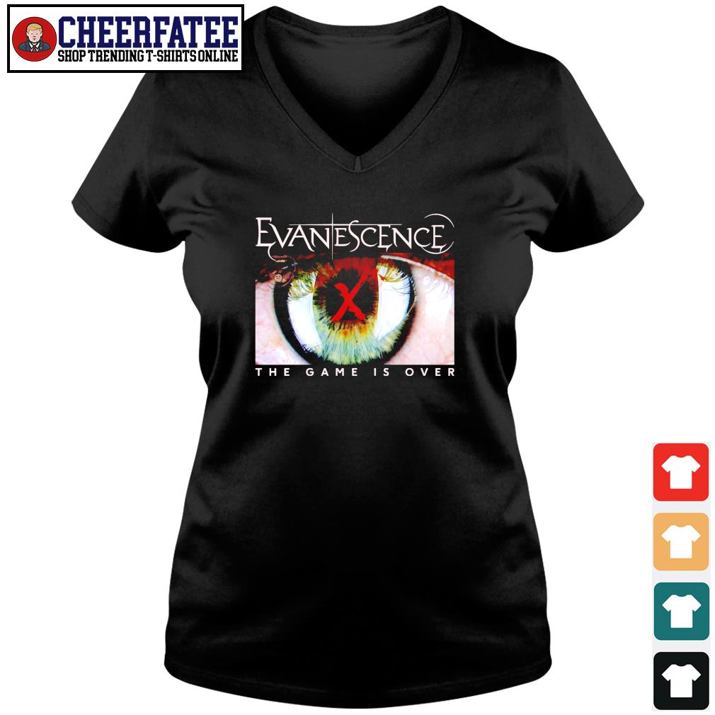 Evanescence the game is over s v-neck t-shirt